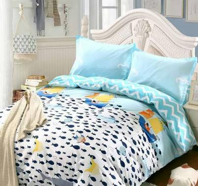 鑫冠床上用品蓝色