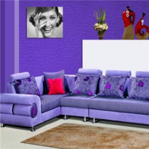 KBH和睿嘉品沙发紫色整套沙发