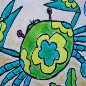 东方娃娃少儿美术螃蟹