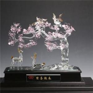 拉絲水晶金錢樹