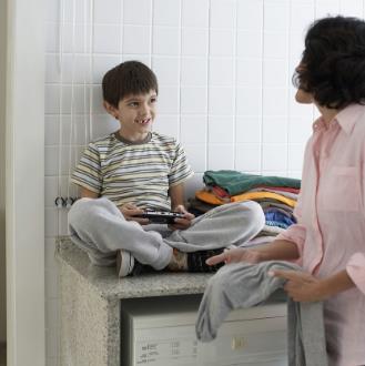 洗衣媽媽舒適