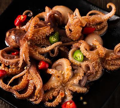 小海甲撈汁小海鮮大魷魚