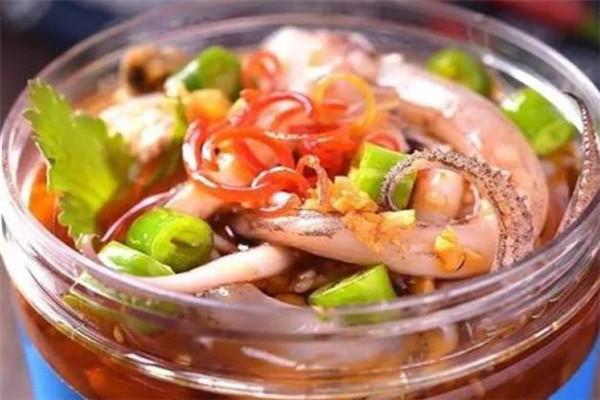 小海甲撈汁小海鮮魷魚