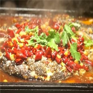 魚篝炭火烤魚美味