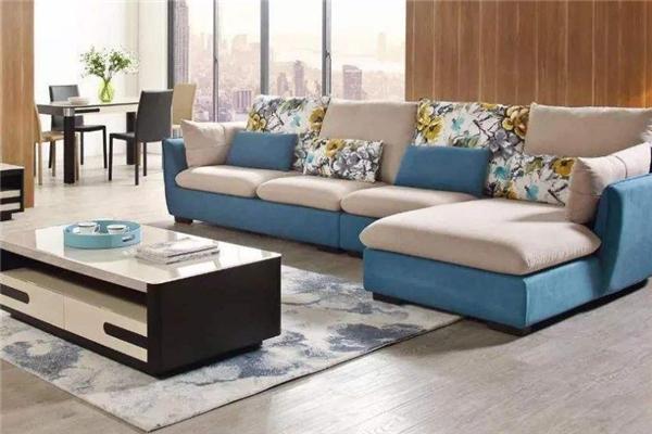 格調沙發藍色
