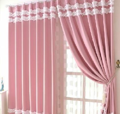 居佳伴窗帘粉色