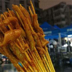 三食串烤鸭肠