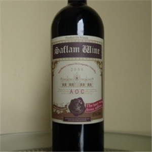 西夫拉姆紅酒正面