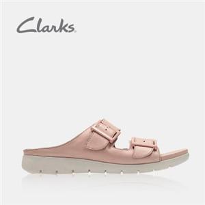 其樂女鞋粉色涼鞋