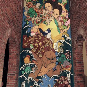 文娜复古壁画