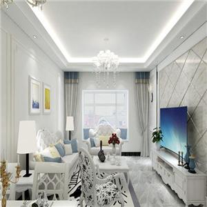 都市時空白色客廳裝飾