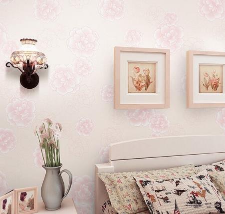 环瀛墙纸粉色印花
