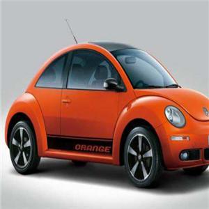 甲殼蟲汽車橙色