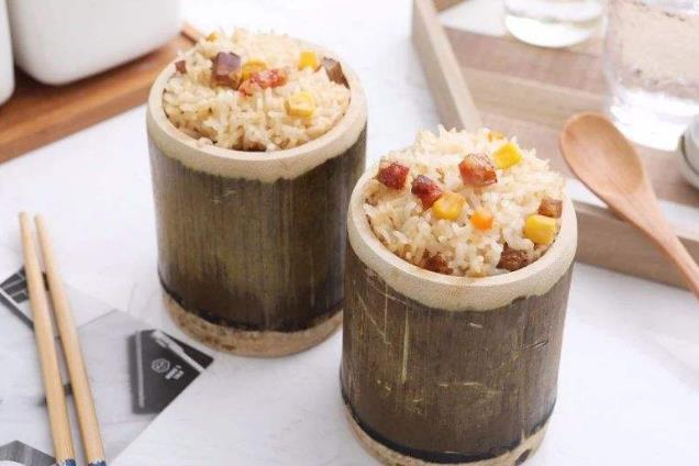 竹筒饭美食