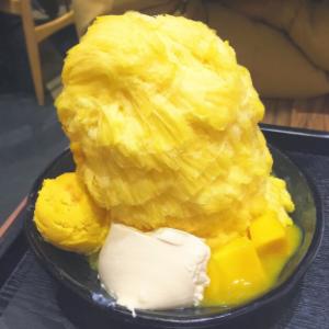 芒果绵绵冰可口