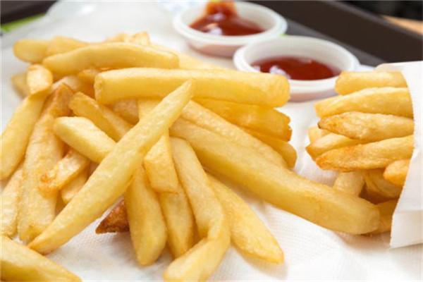超長薯條展示