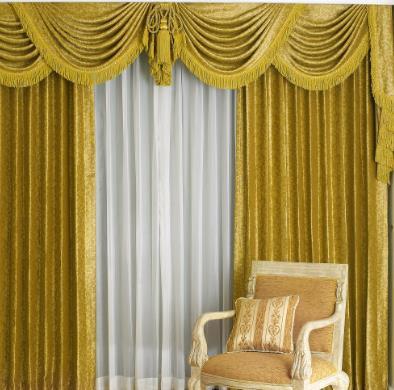 同創窗簾綠色