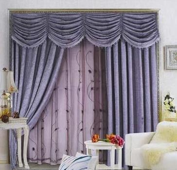 同创窗帘紫色