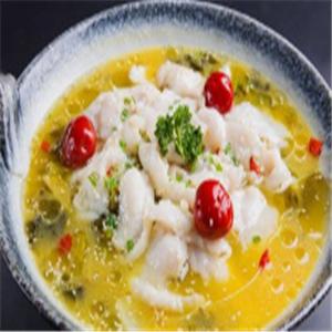魚得水酸菜魚米飯仔姜味濃郁