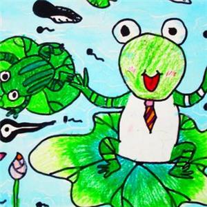 東方少兒美術青蛙圖