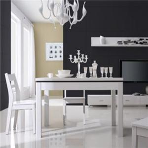 廣東新紅陽家具白色餐桌
