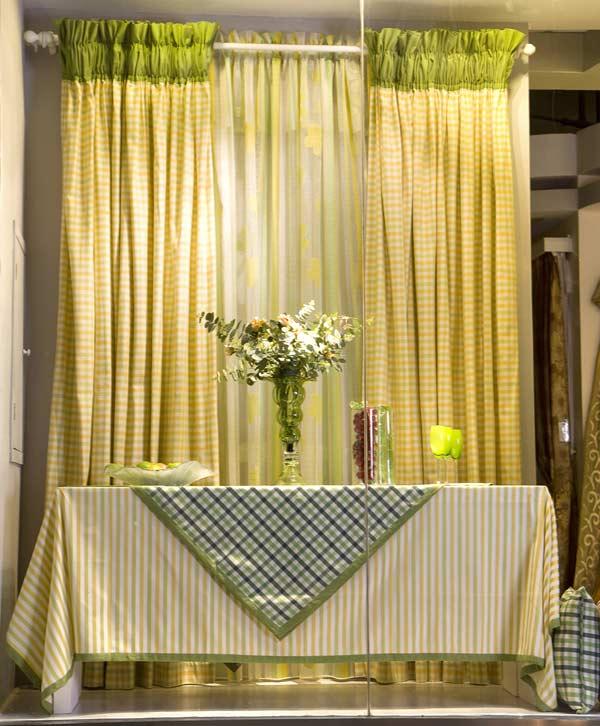 鷹翔窗簾綠色