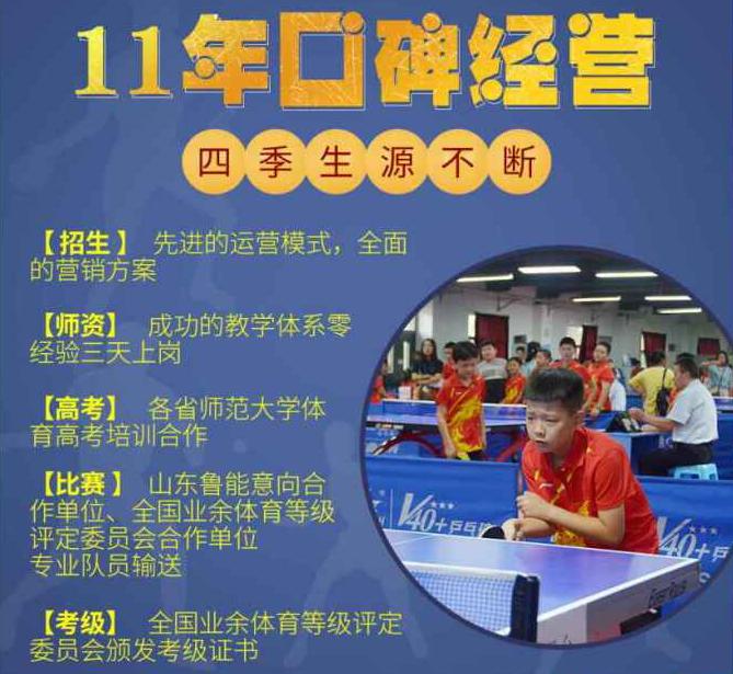 梦东方乒乓球培训加盟