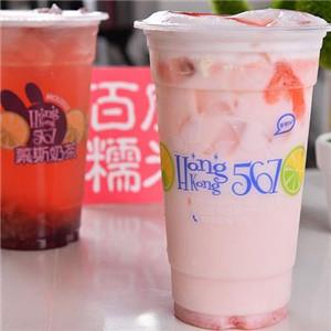香港567慕斯奶茶飲品展示