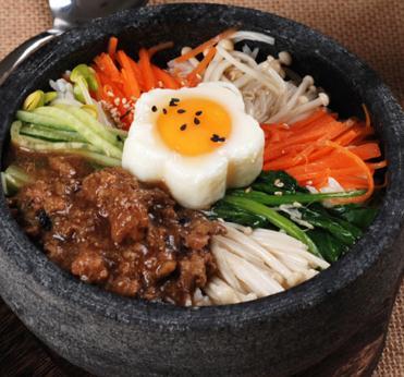 美食记石锅拌饭肉沫