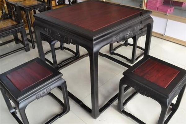 科檀家具四方桌
