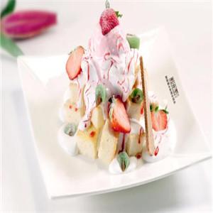 韓食里雪冰新概念甜品裝盤