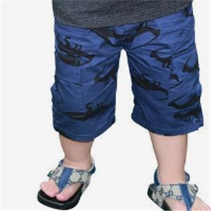 乐酷童装棉麻短裤