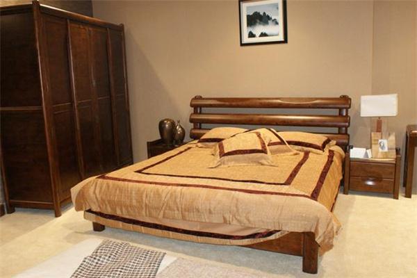 松道柏木家具床铺