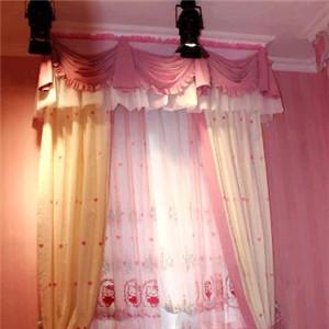 金阳窗帘粉色