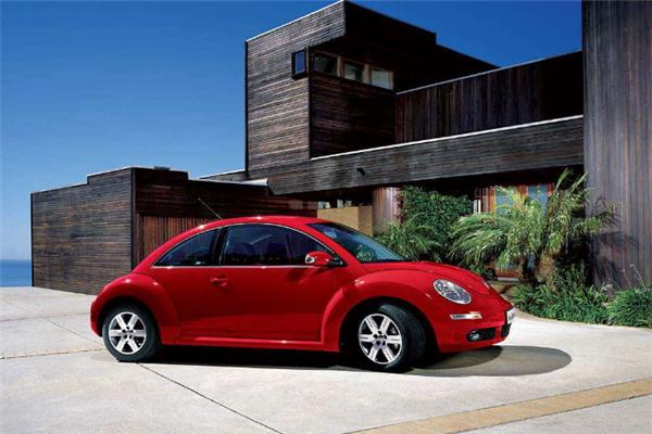 甲殼蟲汽車紅色