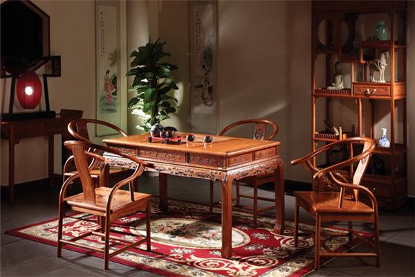 中韵轩红木家具茶桌