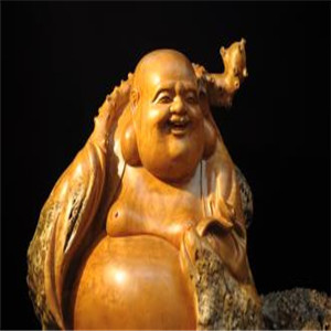 麻梨疙瘩根雕工藝品彌勒佛