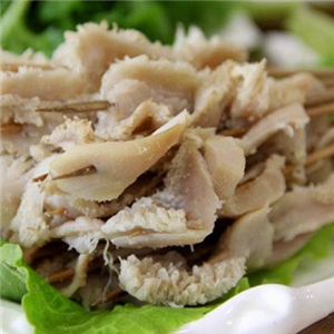 皮豆涮牛肚菜品
