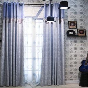 紅闊窗簾現代