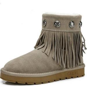 駱駝雪地靴流蘇款