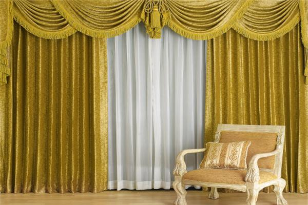 碧黛窗帘深黄色
