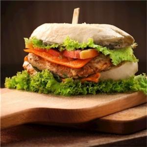 开开鸡排汉堡蔬菜