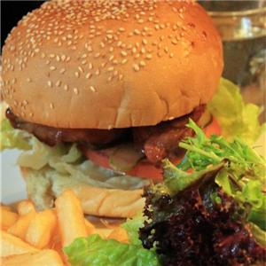 开开鸡排汉堡身生菜