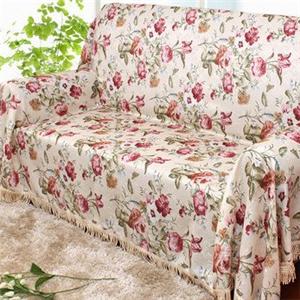 蝶恋花风情布艺沙发罩