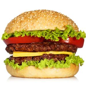 佳奇贝汉堡双层夹肉