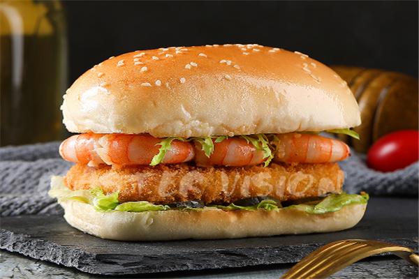 开开鸡排汉堡鲜虾