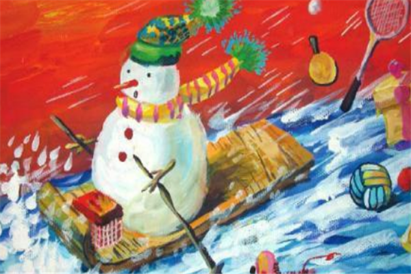 溢美少兒美術教育雪人