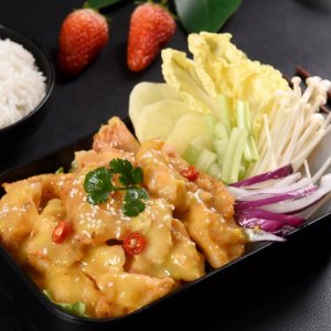 泰烧烤鱼饭快餐美味