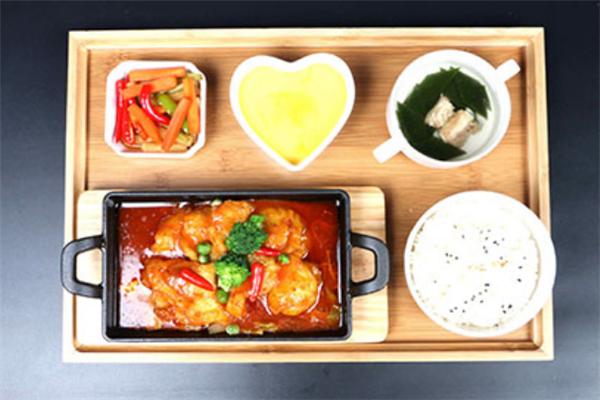 泰烧烤鱼饭快餐套餐