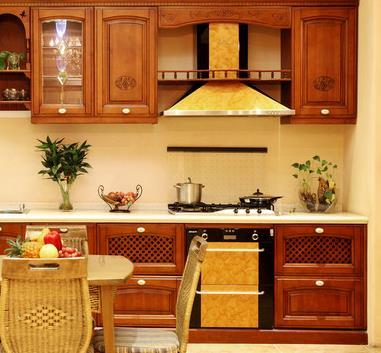 潔馨整體櫥柜棕色